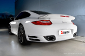 Akrapovic Slip On Exhaust for 911 Porsche 997 Turbo/Turbo S FL