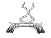 Akrapovic 15-17 BMW X5M (F85) Evolution Exhaust With Carbon Tips